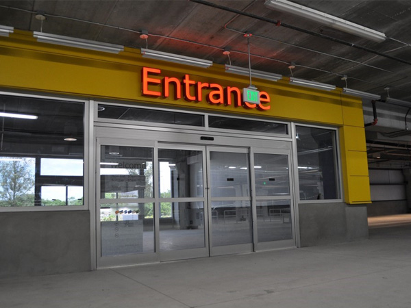 Record 5400 Series Automatic Hurricane Impact Rated Sliding Door